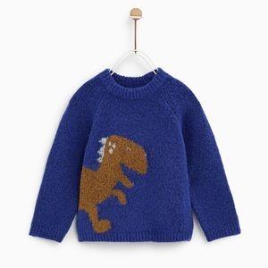 Zara Baby Boy Blue Dinosaur Sweater